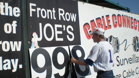 Joe Rowe once attended a Daytona Cubs game the day after suffering a seizure.